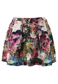 Blooming Floral Print Pleated Skirt in Pink - Bottoms - Retro, Indie and Unique Fashion