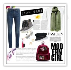 """""""Jean sass"""" by basseygift on Polyvore featuring Alexander McQueen, Yves Saint Laurent, Isabel Marant, Madewell, Lola and MAC Cosmetics"""