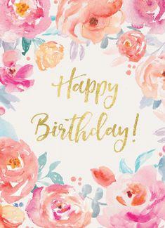 Happy Birthday Floral, Birthday Wishes Flowers, Happy Birthday Video, Happy Birthday Pictures, Happy Birthday Sister, Happy Birthday Greetings Friends, Happy Birthday Messages, Happpy Birthday, Birthday Posts