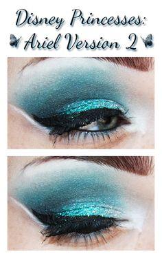 Ariel V2 inspired makeup.