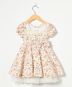 Vestido Baby Floral Bege - Dinda