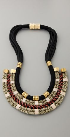 Wow! The details on this statement Plate Necklace from breakout Brooklyn-based designer Holst + Lee are absolutely stunning!