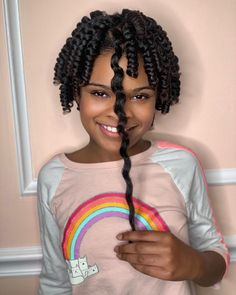 Wow, just WOW! Look at all of that shrinkage 😫 isn't natural hair magical?! . Service to book: Corkscrew Set . Disclaimer: YES, I do little… Black Girls Hairstyles, Braided Hairstyles, Easy Braid Styles, Curls, Little Girls, Natural Hair Styles, Dreadlocks, Photo And Video, Kid Hair