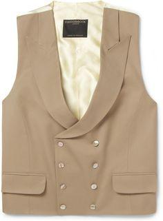 Favourbrook Shawl-Collar Wool-Gabardine Waistcoat sur shopstyle.fr
