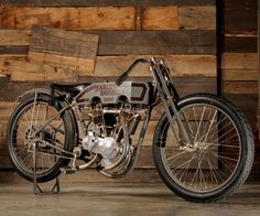 1914 Harley Davidson A Motor Factory Boardtrack Racer. In 1914 HD entered the racing game and never looked back. This A motor racer is one of few first year Harley Davidson racers in existence.