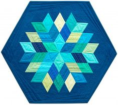 """Rock Candy"" quilt designed by Jaybird Quilts. Features Kona Cotton Solids. Charm Friendly."