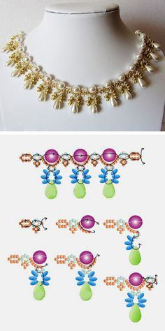 Bead weaving necklace tutorial