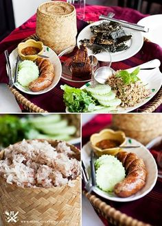 Postcard from Laos - Luang Prabang (part (A Table For Two) Vietnamese Recipes, Thai Recipes, Asian Recipes, Vietnamese Food, Asian Foods, Laos Food, Thai Street Food, Home Food, Unique Recipes