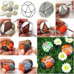 Ladybug Rocks tutorial ~ free ᛡ