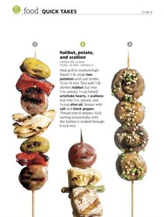 Food - grill layout inspiration