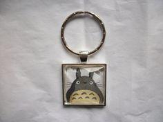 My Neighbor Totoro Silver Keychain Pendant Domed by BadCatCraft