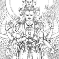 http://www.tibetanthangkapainting.com/images/1000_arm_chenrezig2closeup.jpg
