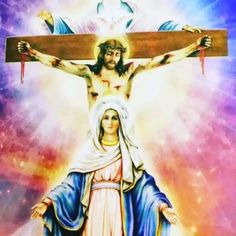 Jesus And Mary Pictures, Mother Mary Images, Catholic Pictures, Pictures Of Jesus Christ, Images Of Mary, Mary Jesus Mother, Blessed Mother Mary, Mary And Jesus, Blessed Virgin Mary