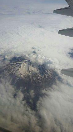 Uçaktan  çekim  Erciyes Dağı  Kayseri Türkiye