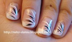 acrylic nails with swishes