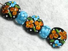 Autumn Colors Lampwork Beads. Starting at $5 on Tophatter.com!