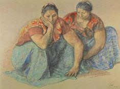 Tehuanas (Tehuantepec Women) by Francisco Zuniga (1973)