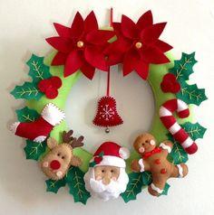 Ghirlanda di natale en fieltro -Guirlanda Navidad de fieltro: