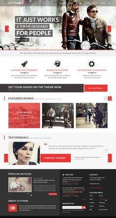 CityHub – Responsive Agency and Blog WordPress Theme