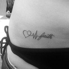 Faithful Love // Heartbeat Tattoo Ideas