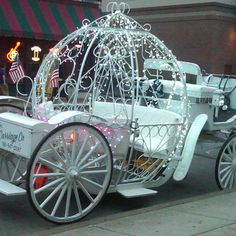 Could you convert your dad's utility trailer into some kind of carriage ride?  Maybe you could set up the girl's castle tent on it . . .