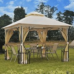 Shop for Outsunny x Steel Outdoor Garden Gazebo Canopy with Mesh Netting Walls & a Roof Resistant to UV Rays. Get free delivery On EVERYTHING* Overstock - Your Online Garden & Patio Shop! Get in rewards with Club O! Gazebo Pergola, Gazebo Canopy, Garden Gazebo, Pergola Plans, Pergola Kits, Canopies, Pergola Ideas, Garden Mural, Cheap Pergola