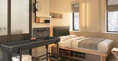 Rooms in NY. | Coolest beds. Places in NY. Hotels design. Interiors design. Hospitality design. Inspirations. | #hotels #inspirations #rooms | For more visit https://www.brabbucontract.com/