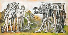 """""""Sou comunista para que haja menos miséria"""" PP  """"Massacre na Coréia"""", quadro de 1951 de Picasso"""