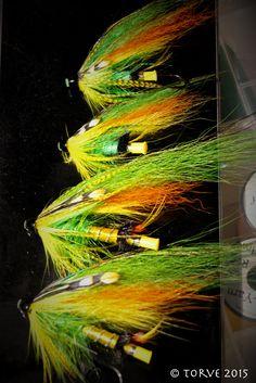 Green Highlender Salmon Tubes Flies