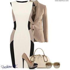 Color block dress... So chic