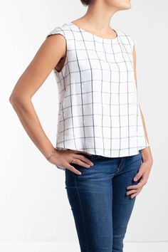 Sewing Tops Matisse top Pattern - Women easy to sew top with no dart -Beginner at Makerist - Sewing Patterns Free, Free Sewing, Clothing Patterns, Sewing Tips, Sewing Projects, Sewing Designs, Sewing Hacks, Sewing Tutorials, Sewing Clothes Women