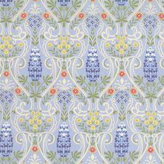 Texas BLUEBONNETS quilt fabric Moda Sentimental Studios SHADES of BLUE yellow wildflowers shabby lupine 1 yard 32212-14 oop