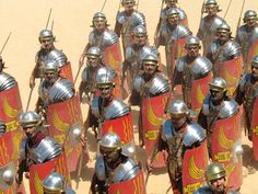 The Roman legionary was a professional heavy infantryman of the Roman army after the Marian reforms. Legionaries had to be Roman citizens under the age of 45. They enlisted in a legion for twenty-five years of service, a change from the early practice of enlisting only for a campaign. The last five years were on veteran lighter duties.