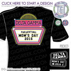 TGI Greek - Delta Gamma - Mom's Day - Greek Apparel #tgigreek #deltagamma