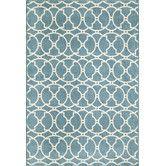 Living room rug idea- Found it at Wayfair - Momeni Baja Blue Rug
