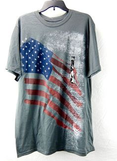 Apt 9 Mens Flag Graphic Tee Shirt Gray Big and Tall Size 3XLT #Apt9 #GraphicTee