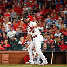 """St. Louis Cardinals on Instagram: """"HE HIT IT INTO THE BIG MAC SIGN!🤭"""" Cardinals Players, Big Mac, World Series, World Championship, The Man, Baseball Cards, St Louis, Instagram, Birds"""