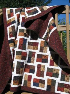 "Sparkling Gemstone quilt made with a jelly roll (or 2 1/2"" strips).  Think I may have to make this one!"