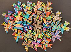 Unique and creative professions: flying birds (Escher variety) Collaborative Art Projects, Classroom Art Projects, Art Classroom, Mc Escher Art, Escher Kunst, Middle School Art, Art School, Tessellation Art, Classe D'art