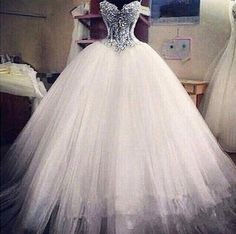 Elegant Sweetheart Sleeveless Tulle Wedding Dress With Appliques Beadings - Products - 27DRESS.COM