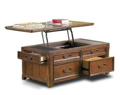 Picture of Lift Top Cocktail Table w/ storage