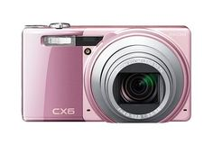 Ricoh CX6 Digital Camera – Pink (10MP, 11 x Optical Zoom) 3 inch LCD