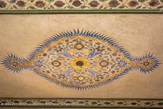Amer Fort 015: A beautiful mixture of Hindu and Mughal art. Amer Fort, Ceiling Painting, Rajasthan India, Ganesh, Tapestry, Beautiful, Art, Hanging Tapestry, Art Background