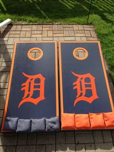 Detroit Tigers Cornhole Game! Made by Bill's Boards!  https://m.facebook.com/BillsBoardsOutdoorGames @William Smith