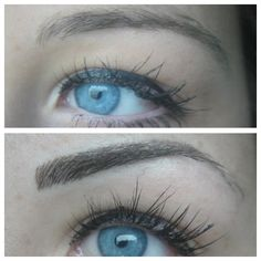 Hairstroke Brow before and after....