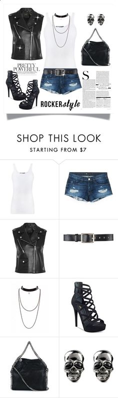 Rocker Chic by terry-tlc ❤ liked on Polyvore featuring Vince, 3x1, Maje, Belstaff, GUESS, STELLA McCARTNEY, rockerchic and rockerstyle