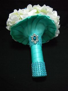Tiffany blue wedding Tiffany Blue Bouquet by AngelicasBridal, $280.00