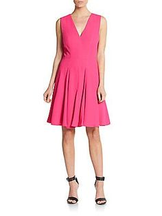 Rebecca Taylor Pleated Dress - Orchid Pink - Size