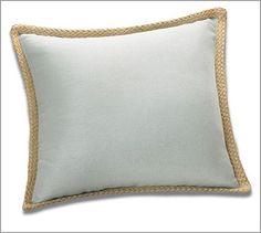 "Jute Braid Pillow Cover 20"", Blue Smoke #potterybarn"