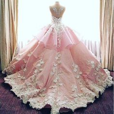 Imagem de dress, pink, and princess